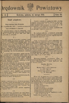 Orędownik Powiatowy (Kościan) 1921.02.12 R.56 Nr 12