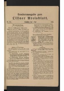 Lissaer Kreisblatt. 1916.04.01 Nr 27a
