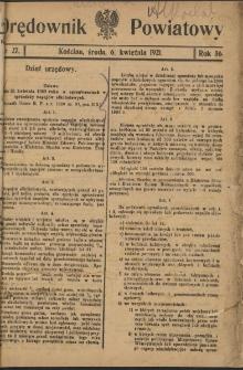 Orędownik Powiatowy (Kościan) 1921.04.06 R.56 Nr 27