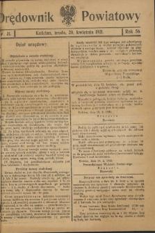 Orędownik Powiatowy (Kościan) 1921.04.20 R.56 Nr 31
