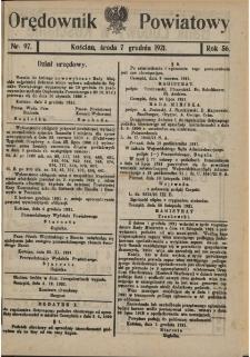 Orędownik Powiatowy (Kościan) 1921.12.07 R.56 Nr 97