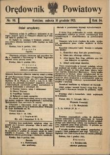 Orędownik Powiatowy (Kościan) 1921.12.10 R.56 Nr 98