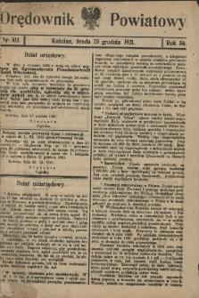 Orędownik Powiatowy (Kościan) 1921.12.28 R.56 Nr 103