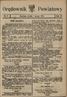 Orędownik Powiatowy (Kościan) 1922.02.01 R.57 Nr 9