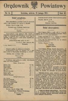 Orędownik Powiatowy (KościanOrędownik Powiatowy (Kościan) 1922.02.25 R.57 Nr 16