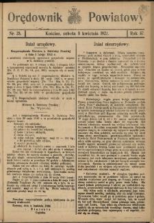 Orędownik Powiatowy (Kościan) 1922.04.08 R.57 Nr 28