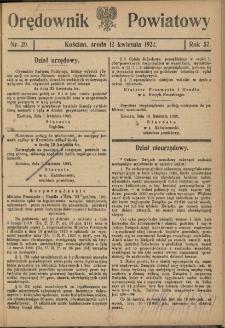 Orędownik Powiatowy (Kościan) 1922.04.12 R.57 Nr 29