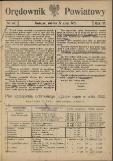 Orędownik Powiatowy (Kościan) 1922.05.27 R.57 Nr 42