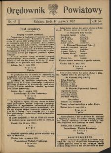 Orędownik Powiatowy (Kościan) 1922.06.14 R.57 Nr 47