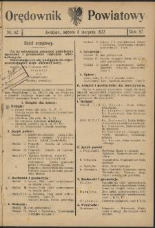 Orędownik Powiatowy (Kościan) 1922.08.05 R.57 Nr 62