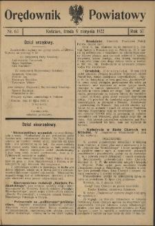 Orędownik Powiatowy (Kościan) 1922.08.09 R.57 Nr 63