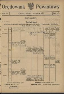 Orędownik Powiatowy (Kościan) 1922.09.02 R.57 Nr 70