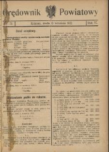 Orędownik Powiatowy (Kościan) 1922.09.13 R.57 Nr 73