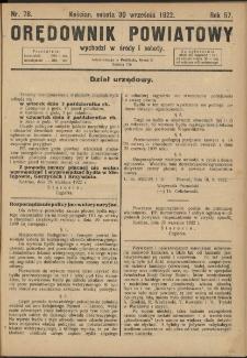 Orędownik Powiatowy (Kościan) 1922.09.30 R.57 Nr 78