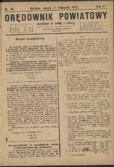 Orędownik Powiatowy (Kościan) 1922.11.11 R.57 Nr 90