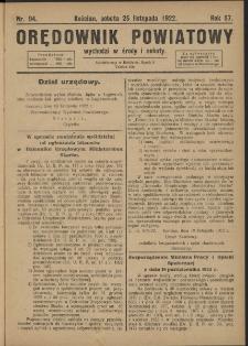 Orędownik Powiatowy (Kościan) 1922.11.25 R.57 Nr 94