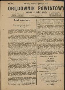 Orędownik Powiatowy (Kościan) 1922.12.02 R.57 Nr 96