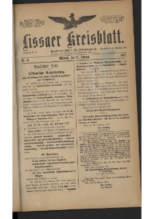 Lissaer Kreisblatt. 1917.02.21 Nr 15