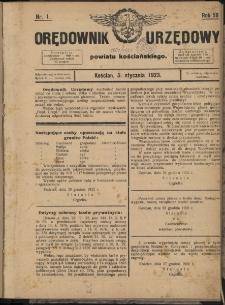 Orędownik Powiatowy (Kościan) 1923.01.05 R.58 Nr 1