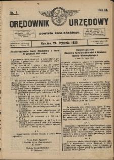 Orędownik Urzędowy Powiatu Kościańskiego 1923.01.24 R.58 Nr 4