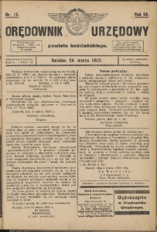Orędownik Urzędowy Powiatu Kościańskiego 1923.03.24 R.58 Nr13