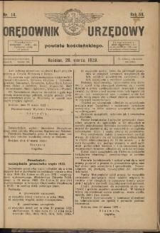 Orędownik Urzędowy Powiatu Kościańskiego 1923.03.28 R.58 Nr14