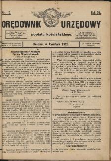 Orędownik Urzędowy Powiatu Kościańskiego 1923.04.04 R.58 Nr 15