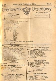 Orędownik Urzędowy Powiatu Rawickiego 1926.06.17 R.2 Nr 24