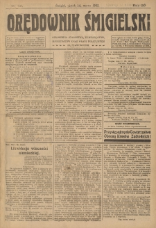 Orędownik Śmigielski 1922.03.24 R.32 Nr 69