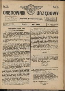 Orędownik Urzędowy Powiatu Kościańskiego 1923.05.12 R.58 Nr 20