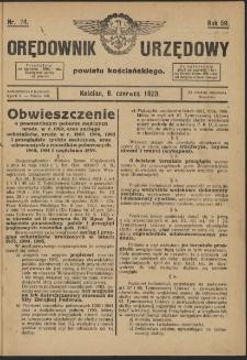 Orędownik Urzędowy Powiatu Kościańskiego 1923.06.08 R.58 Nr 24