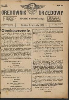 Orędownik Urzędowy Powiatu Kościańskiego 1923.09.05 R.58 Nr 35