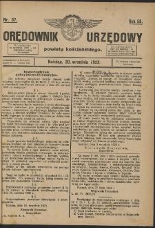 Orędownik Urzędowy Powiatu Kościańskiego 1923.09.20 R.58 Nr 37