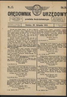 Orędownik Urzędowy Powiatu Kościańskiego 1923.11.29 R.58 Nr 47