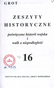 Grot : Zeszyty Historyczne 2003 Nr 1(16)