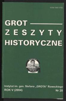 Grot : Zeszyty Historyczne 2004 R.5 Nr 3(20)
