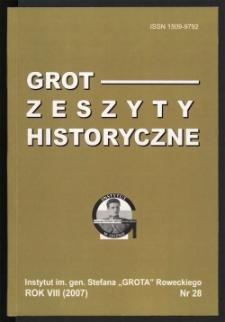 Grot : Zeszyty Historyczne 2007 R.7 Nr 1(28)