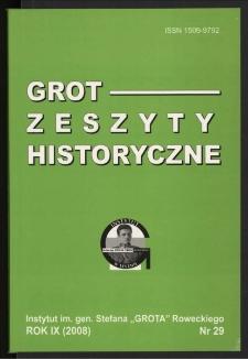 Grot : Zeszyty Historyczne 2008 R.9 Nr 1(29)
