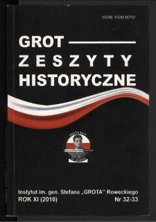 Grot : Zeszyty Historyczne 2010 R.11 Nr 1/2(32/33)