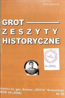 Grot : Zeszyty Historyczne 2006 Nr 1(26)