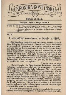 Kronika Gostyńska : jednodniówka regionalna. 1934.05.01 T.6 z.5