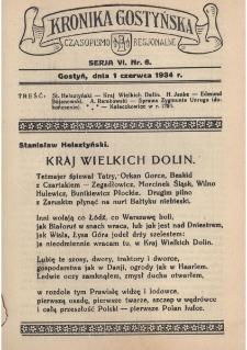 Kronika Gostyńska : jednodniówka regionalna. 1934.06.01 T.6 z.6
