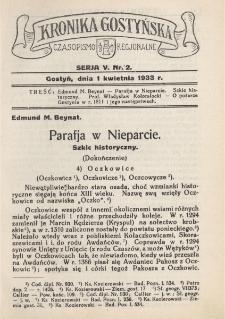 Kronika Gostyńska : jednodniówka regionalna. 1933.04.01 T.5 z.2