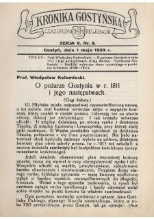 Kronika Gostyńska : jednodniówka regionalna. 1933.05.01 T.5 z.3