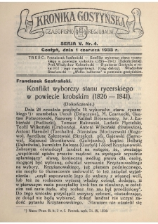 Kronika Gostyńska : jednodniówka regionalna. 1933.06.01 T.5 z.4