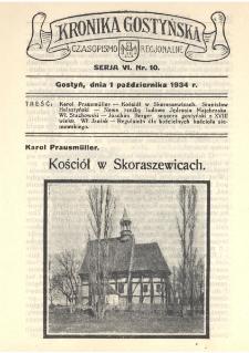 Kronika Gostyńska : jednodniówka regionalna. 1934.10.01 T.6 z.10