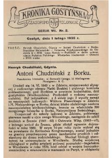 Kronika Gostyńska : jednodniówka regionalna. 1935.02.01 T.7 z.2