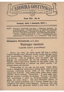 Kronika Gostyńska : jednodniówka regionalna. 1937.08.01 T.8 z.8