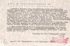 Apel do funkcjonariuszy Milicji Obywatelskiej