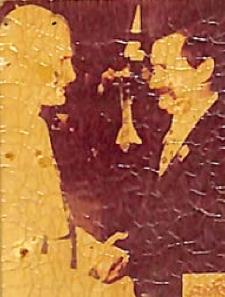 Znaczek z Janem Pawłem II i Lechem Wałęsą